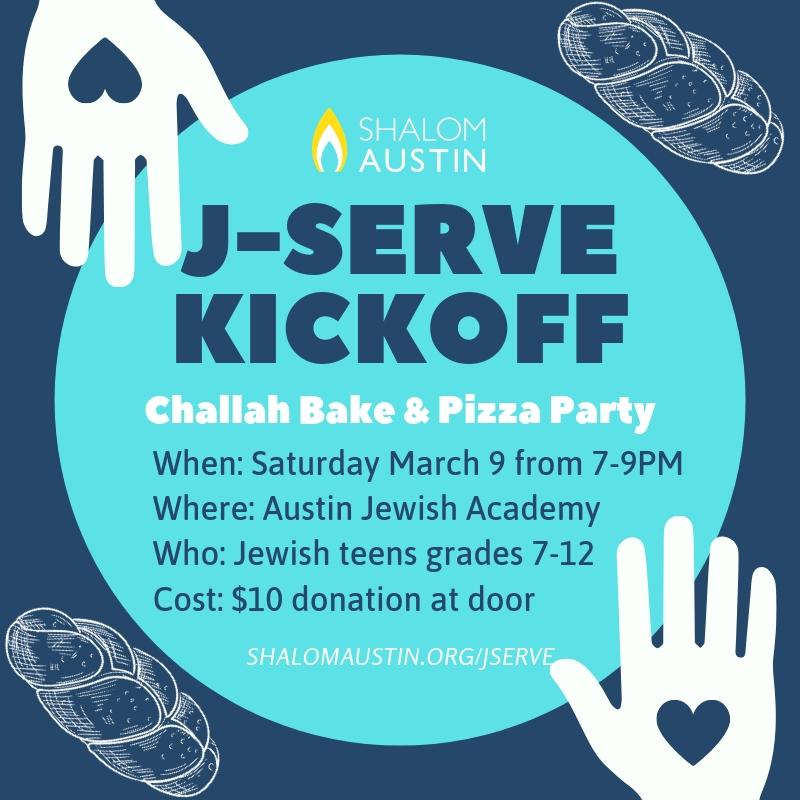 Austin J-Serve Challah Bake & Pizza Party Fundraiser image
