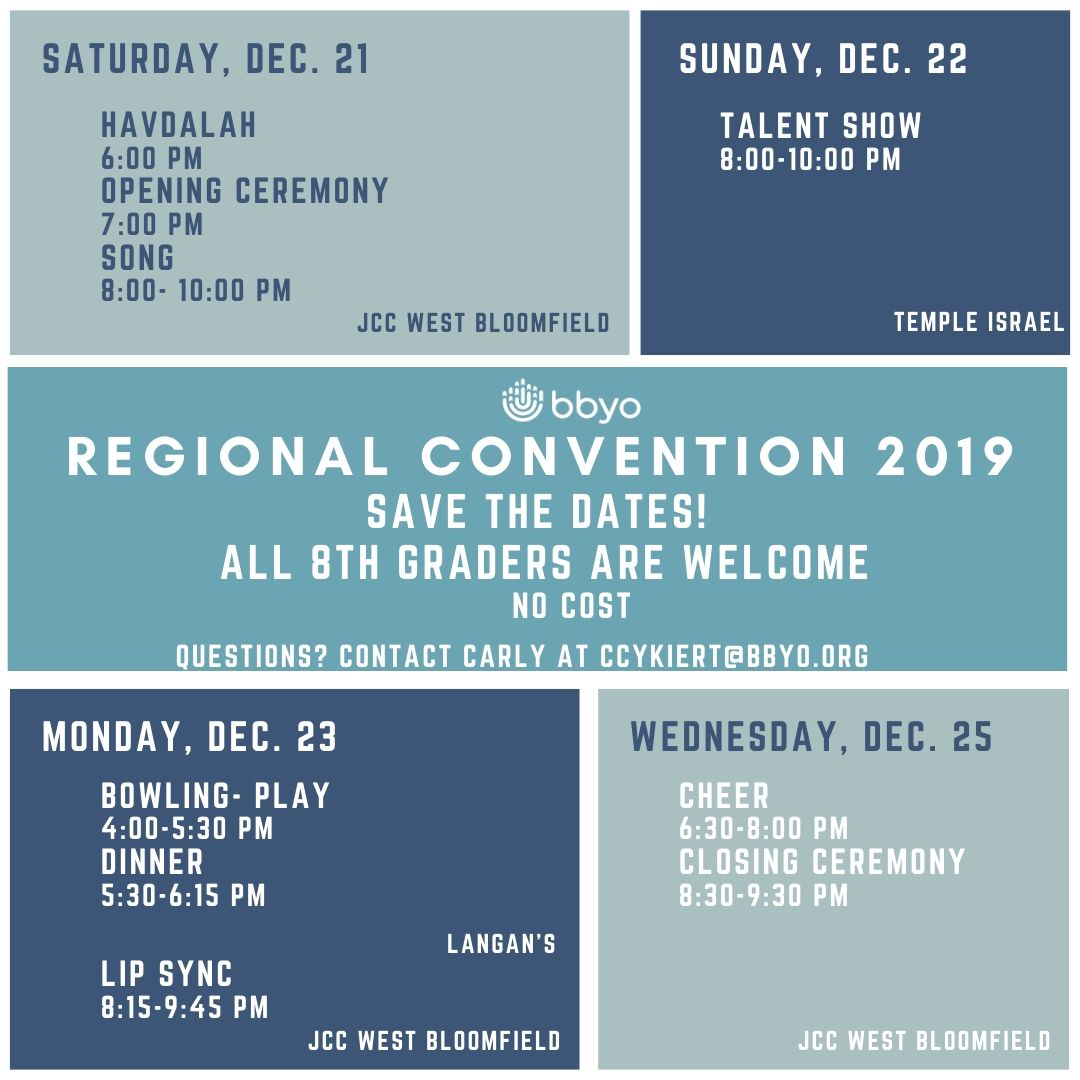 Regional Convention 2019 for 8th Graders image