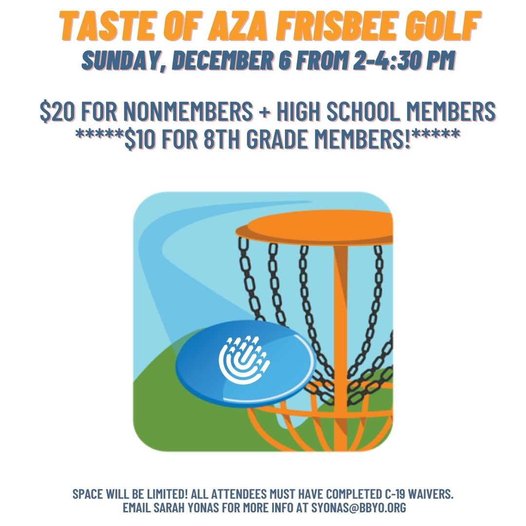 Taste of AZA: Frisbee Golf! image