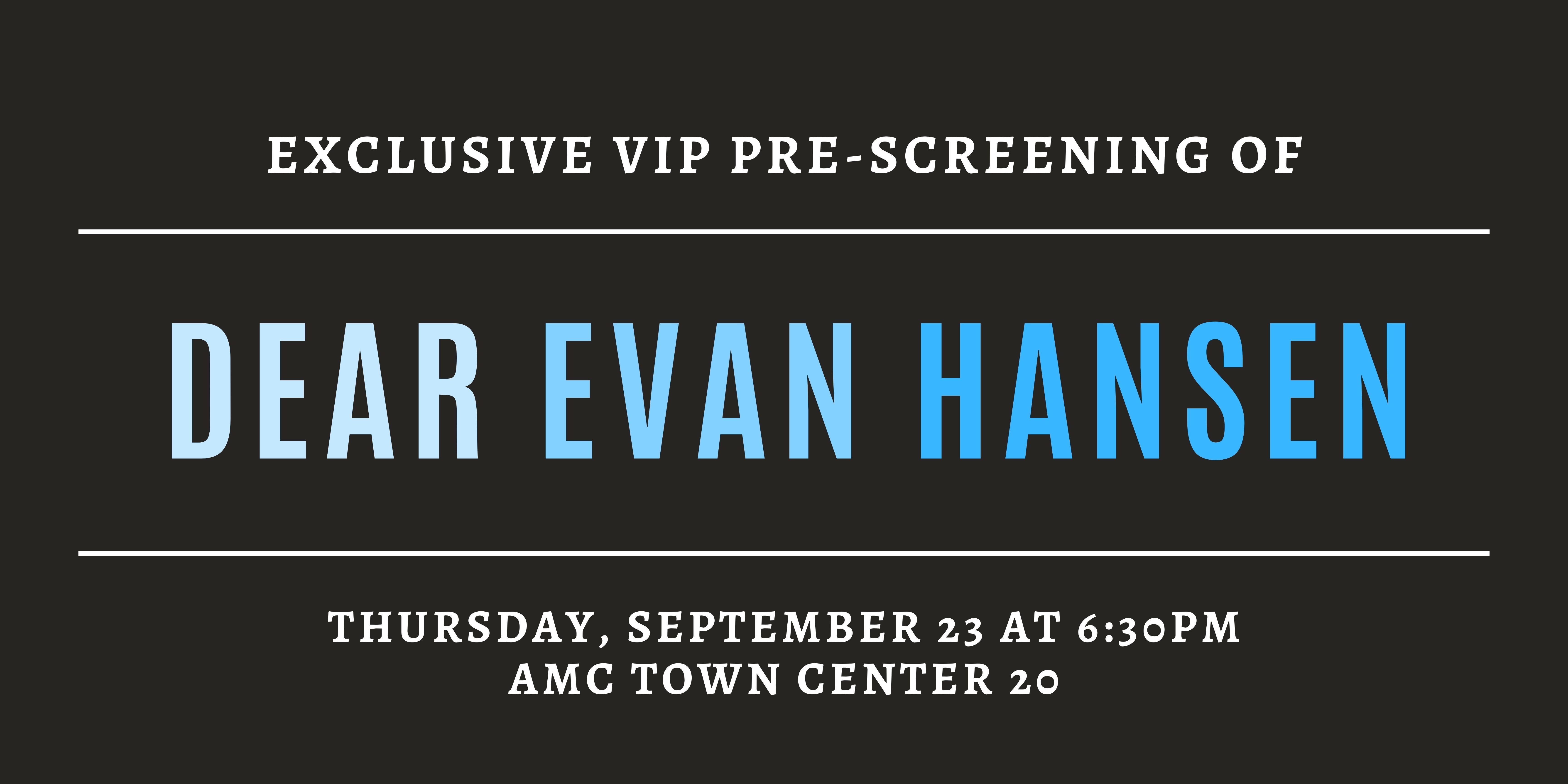 Dear Evan Hansen Pre-Screening image