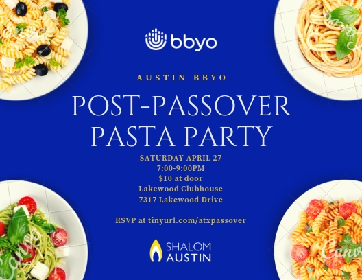 Austin BBYO Post-Passover Pasta Party image