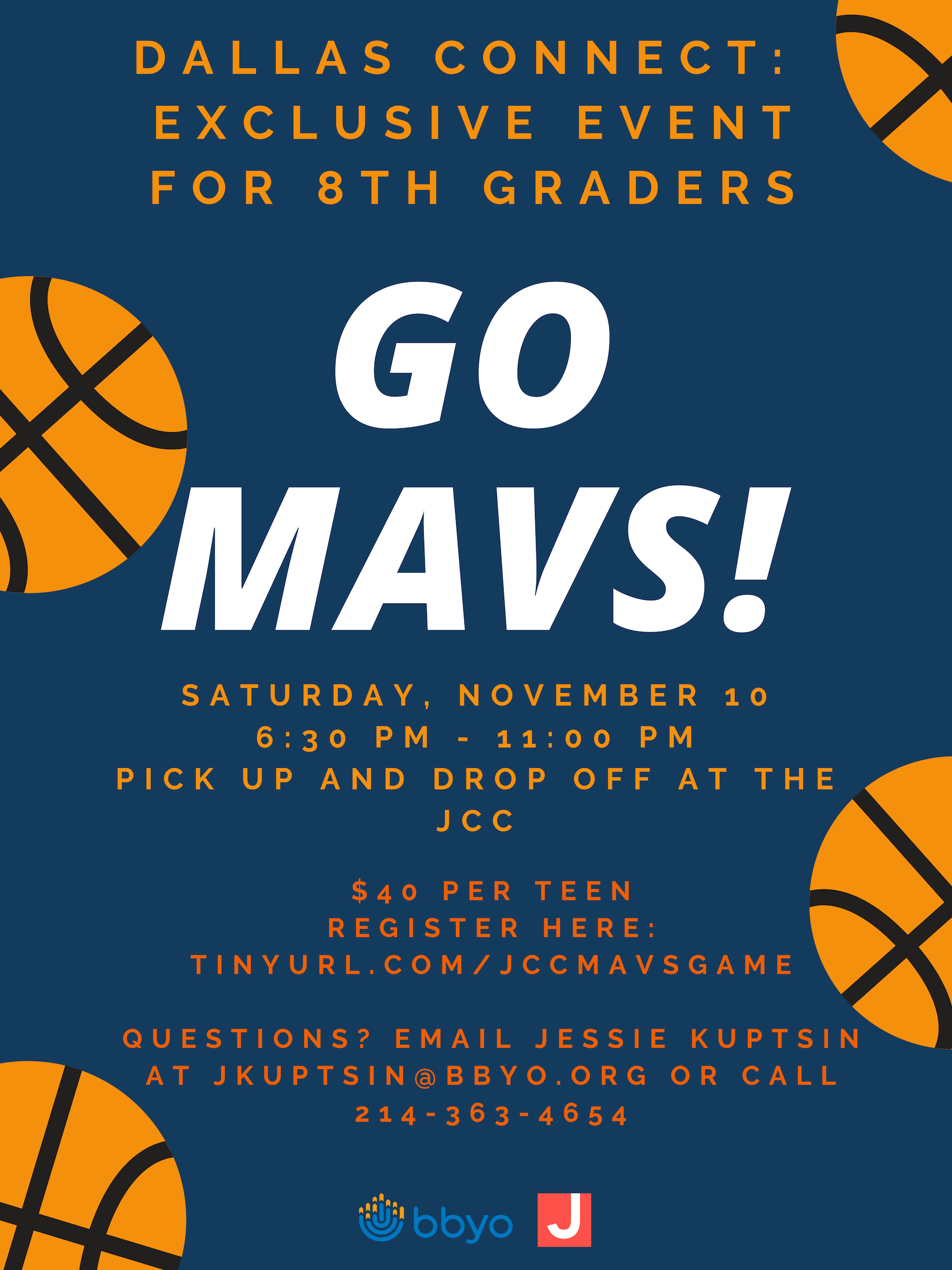 Mavericks Game, exclusively for 8th graders! image