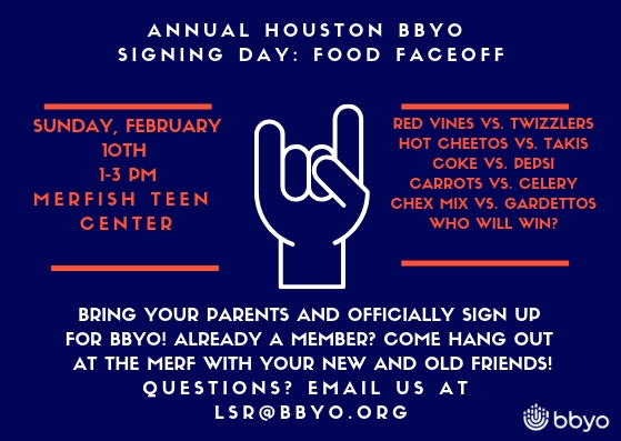 Taste of BBYO: Signing Day Food Faceoff image