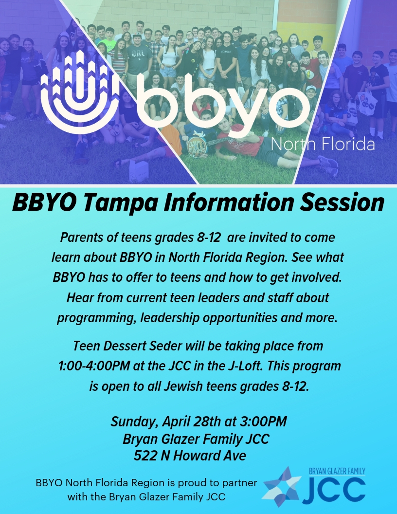 Tampa BBYO Parent Information Session image